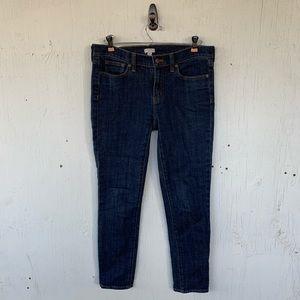 J. Crew Dark Wash Skinny Ankle Jeans